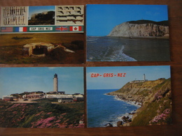 France - Pas De Calais - 4 Cartes Du CAP BLANC NEZ Et Du CAP GRIS NEZ  ( Escalles Audinghen ) - France