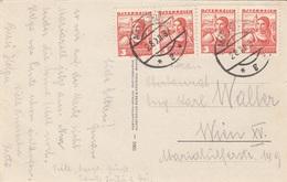 ÖSTERREICH 1937 - 4x3 Gro Auf Ak Wintersportplatz Mariazell Gegen Sauwand Steiermark - 1918-1945 1. Republik