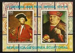 EQUATORIAL GUINEA 1974 - Centenary UPU / Universal Postal UNION / Thurn And Taxis -  AIRMAIL Imperf. Bloc 110 Mi A/B 389 - Equatorial Guinea
