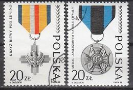 POLEN  1988 - MiNr: 3165-3166  Komplett Used - 1944-.... Republik