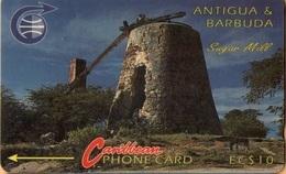 Antigua & Barbuda - ANT-4A, Sugar Mill, 4CATA, 11.500ex, 1992, Used As Scan - Antigua And Barbuda