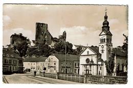 Hespérange - ¨Place De L'Eglise Et Ruines Du Château - Edit. P. Kraus N° 617 - 2 Scans - Cartes Postales