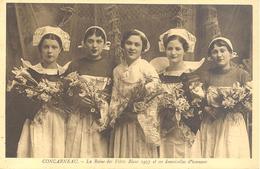 Concarneau - La Reine Des Filets Bleus 1937 Et Ses Demoiselles D'honneur - Concarneau