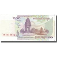 Billet, Cambodge, 100 Riels, 2001, KM:53a, TTB - Cambodia