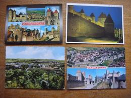 France - Aude - 4 Cartes De CARCASSONNE - Carcassonne