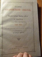 Alsace-Strasbourg-Kleine Strassburger Chronik-Petite Chronique De Strasbourg - Livres, BD, Revues