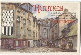 RENNES CAPITALE De La BRETAGNE - Plaquette éditée En 1937 Par La Municipalité - Nbreuses Photos - Toerisme