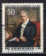 VENEZUELA - 1969 - ALEXANDER VON HUMBOLDT - USATO - Venezuela
