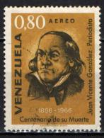 VENEZUELA - 1967 - JUAN VICENTE GONZALES - GIORNALISTA - USATO - Venezuela
