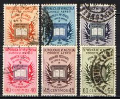 VENEZUELA - 1956 - PRIMO FESTIVAL AMERICANO DEL LIBRO - USATI - Venezuela