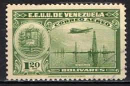 VENEZUELA - 1938 - AEREO CHE PLANA SUI MONUMENTI DEL VENEZUELA - USATO - Venezuela