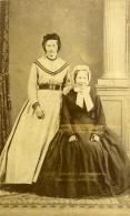 Lierre Femme Mode Second Empire Costume Ancienne CDV Photo Stalpaert 1860 - Photographs