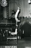France Music Hall Cirque Bouglione Artiste Les Denivers Acrobate Ancienne Photo Esnault 1950 - Professions