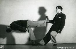 France Music Hall Cirque Artiste Acrobate Gigi & Nino Ancienne Photo Le Studio 1940 - Professions