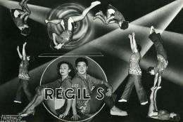 France Music Hall Cirque Artiste Acrobate Les Regil's Ancienne Photo Photonub 1950 - Professions