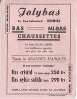 "BUVARD PUB ""JOLYBAS"" - RENNES - Textile & Clothing"