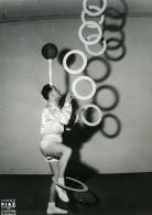 France Music Hall Cirque Artiste Acrobate Jongleur Kach Maht Ancienne Photo Piaz 1950 - Professions