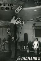 France Moulin Rouge Music Hall Cirque Artiste Acrobate Jongleur Les Richard's Ancienne Photo 1950 - Professions