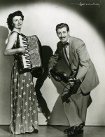 France Music Hall Cirque Artiste Musiciens Josée & René Fernando Accordéon Ancienne Photo 1950 - Professions