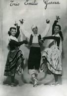 France Music Hall Cirque Artiste Danseurs Musicien Trio Emilio Garcia Ancienne Photo 1950 - Professions
