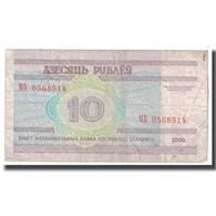Billet, Bélarus, 10 Rublei, 2000, KM:23, B - Belarus