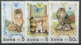 Korea (Nord) 2000 Katze: Mutter Mit Jungtieren 4266/68 Postfrisch - Korea, North