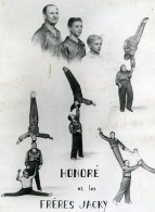 France Music Hall Cirque Artiste Acrobate Honoré & Les Frères Jacky Ancienne Photo 1950 - Professions