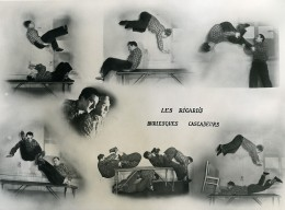 France Music Hall Cirque Artiste Les Ricard's Burlesques Cascadeurs Ancienne Photo 1950 - Professions