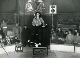 France Dijon Music Hall Cirque Artiste Acrobate Jongleur Ancienne Photo Morice 1950 - Professions