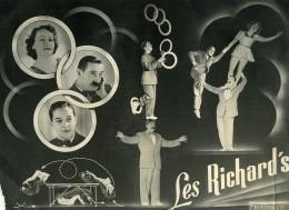 France Music Hall Cirque Artiste Acrobate Jongleur Les Richard's Ancienne Photo Photonub 1950 - Professions
