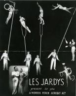 France Music Hall Cirque Artiste Acrobate Perche Les Jardys Ancienne Photo 1950 - Professions