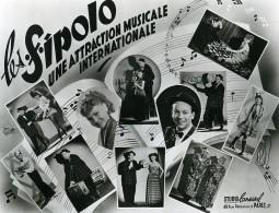 France Music Hall Cirque Artiste Musiciens Les Sipolo Ancienne Photo Lansival 1950 - Métiers