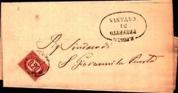72777) LETTERA CON  20C.SERVIZIO DI STATO DA CATANIA A S. GIOVANNI LA PUNTA IL 15-9-1875 - 1861-78 Vittorio Emanuele II