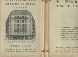 PROTEGE-CAHIERS / PROTEGE-LIVRES - LIBRAIRIE Joseph GIBERT - PARIS 6è - Stationeries (flat Articles)