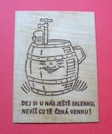 Wooden Postcard - Beer --- Bière Bier --- 201 Roz Mat - Cartes Postales
