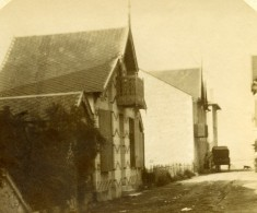 France Chatelaillon Rue Conduisant à La Mer Ancienne Stereo Photo Amateur 1900 - Stereoscopic
