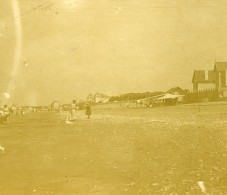France Chatelaillon Vue De Plage Ancienne Stereo Photo Amateur 1900 - Stereoscopic