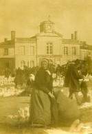 France Mirebeau Marché Aux Oies  Ancienne Stereo Photo Amateur 1900 - Stereoscopic