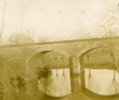 France Saint Maixent Pont De La Gare Ancienne Stereo Photo Amateur 1900 - Stereoscopic