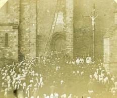 France Sanxay Eglise Plantation De La Croix Ancienne Stereo Photo Amateur 1900 - Photos Stéréoscopiques