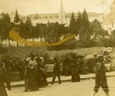 France Lourdes Couvent Des Carmélites Ancienne Stereo Photo Amateur 1900 - Stereoscopic
