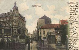 CREFELD, Hochstrasse Mit Strassenbahn, Bürger-Zeitung, Tabakladen (1905) AK - Krefeld