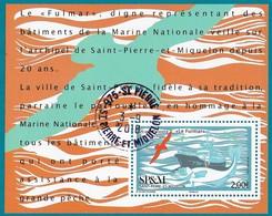 """St.Pierre Et Miquelon  N°1203  BLOC  """"LE FULMAR""""  MARINE NATIONALE  Cachet Rond  09/18 St.Pierre . - St.Pierre & Miquelon"""