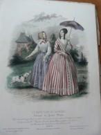 """Fascicule + Planche Du Journal """"""""Le Moniteur De La Mode""""""""  20 Juillet 1844. - Livres, BD, Revues"""