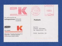 BRD AFS - BAD SEGEBERG, Möbel Kraft 7.6.90 Auf Firmenkarte - Poststempel - Freistempel