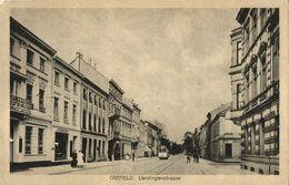 KREFELD, Uerdingerstrasse, Strassenbahn, Friseur (1920s) AK - Krefeld