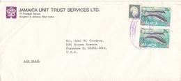Jamaica Cover Sent To USA 15-1-1989 Whale Stamps - Jamaica (1962-...)
