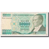Billet, Turquie, 50,000 Lira, 1989, KM:203a, TTB - Turquie
