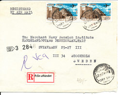 Egypt Registered Cover Sent Air Mail To Sweden 12-8-1979 - Egypt