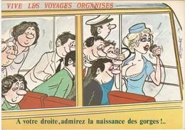 D291 HUMOUR TENDANCIEUX - VIVE LES VOYAGES ORGANISES - DECOLLETE - ILLUSTRATEUR : ALEXANDRE - Alexandre